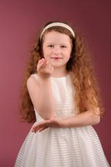 Portrait of little pretty girl
