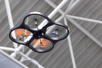 Small UAV drone flying