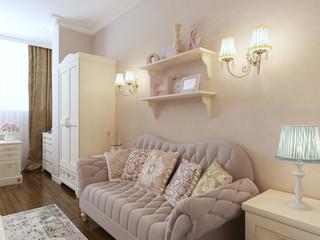 Classic interior of bedroom