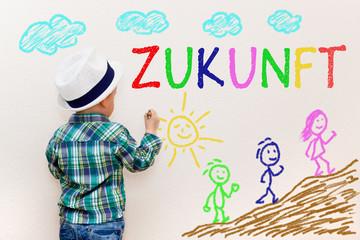 Kinderzeichnung - Zukunft