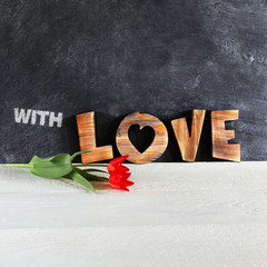 Wooden letters -LOVE