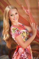 Beautiful girl summer woman portrait