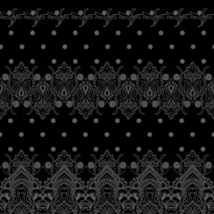 Seamless pattern on black background