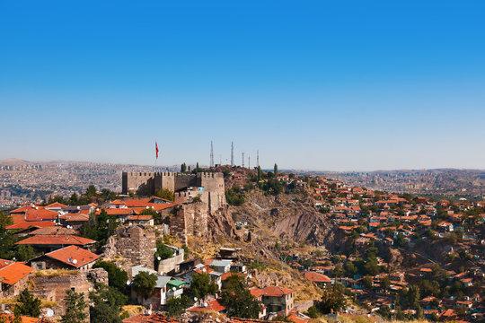 Old fort in Ankara Turkey