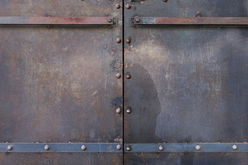 metal door rusty corroded texture background