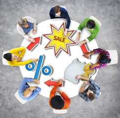 Sale Discount Brainstorming Business Discussion Thinking Strateg
