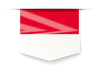 Square label with flag of monaco