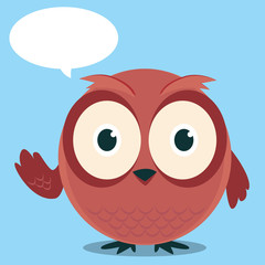 Brown owl said cartoon