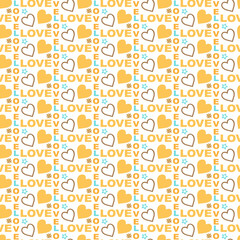 Love abstract heart seamless pattern