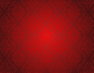 Red damask pattern seamless