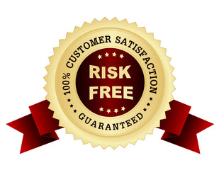 Risk free satisfaction guarantee seal
