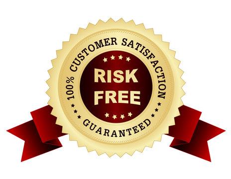Risk free satisfaction guarantee seal