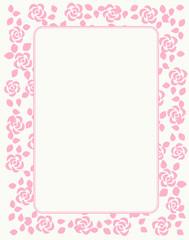 Rose pattern border / frame