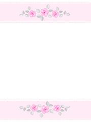Pink roses invitation background