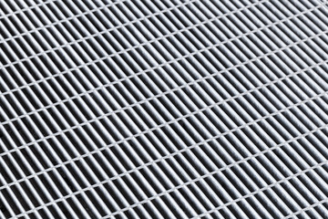 Gray metal grid, abstract background pattern