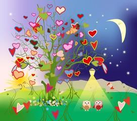 drzewo miłości,