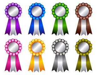 Award ribbon rosette colorful