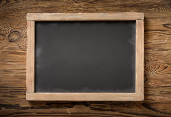 old chalkboard on wood
