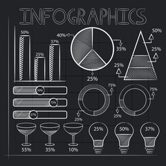 Business infographic elements for presentation.