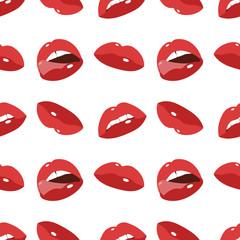 Sexy lips seamless background