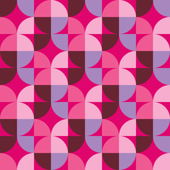 Retro abstract seamless pattern. Vector illustration