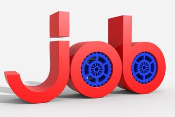 Logo 3D job con ingranaggio