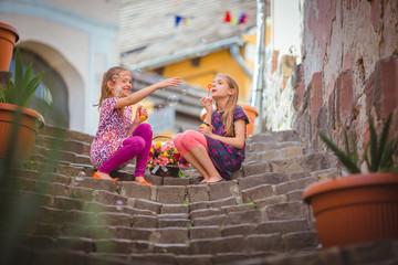 Sisters around the garden city