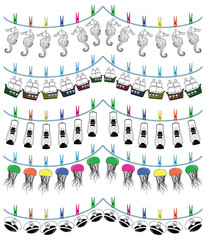 Nautical holiday bunting III