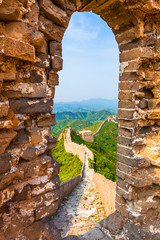 Fototapete - Great wall under sunshine