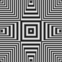 Geometric optical illusion seamless pattern black and white