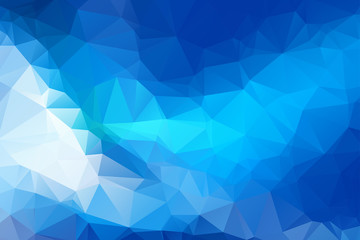 Blue Triangular Background 5