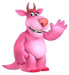 Recess Fitting Sweet Monsters pink cartoon monster 3d