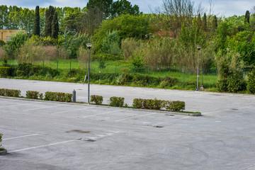 Posteggio auto, parcheggio pubblico, posti disponibili