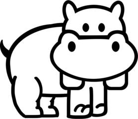 Hippo Outline comic