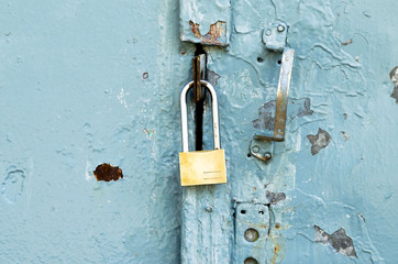 lock on old door