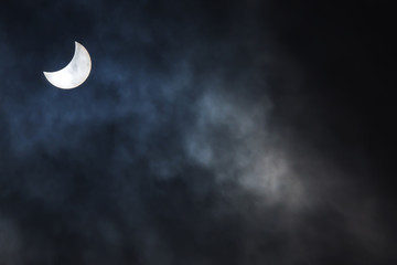 Partial Solar Eclipse on a Cloudy Day March 20 2015