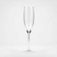 Empty flute glass