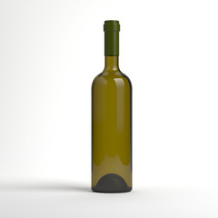 Wine bottle without label