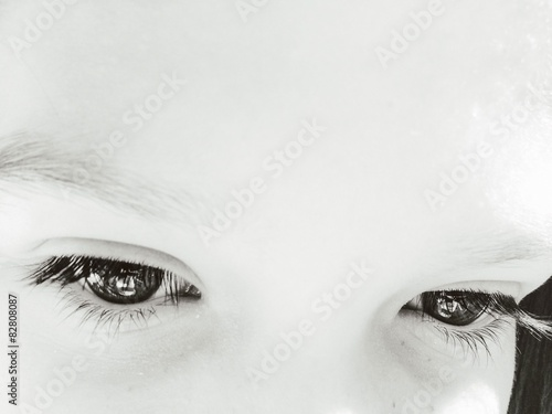 Beautiful Girls Eyes Looking Down Stock Photo And Royalty Free