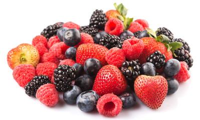 Strawberry, blackberry, blueberry and raspberry