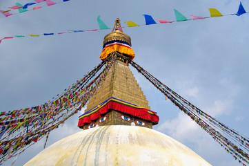 Boudhanath stupa, Katmandu, Nepal.