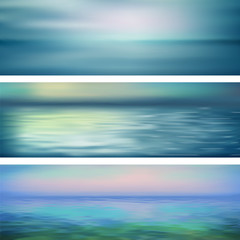 Wall Mural - Abstract Vector Water Banners