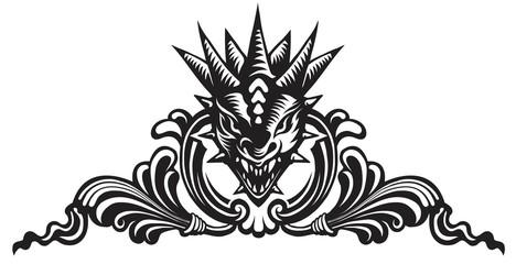Dragons head, tattoo