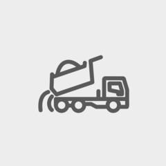 Dump truck thin line icon