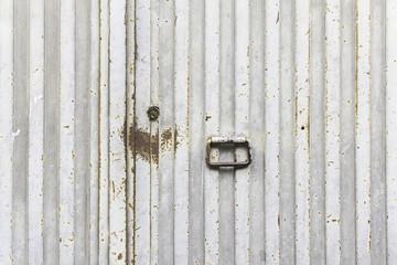 Silver gray door