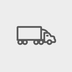 Delivery car thin line icon