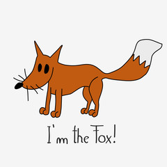 Cute Hand Drawn Fox Illustration