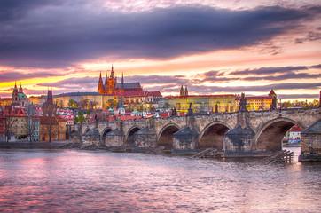 Prague (Czech Republic): Charles (Karluv) Bridge, Vltava River