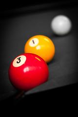Drei Billardkugeln, colorkey