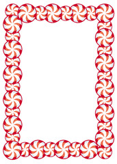 Frame with frame swirl candies